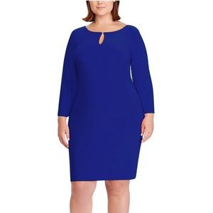 Lauren Ralph Lauren Keyhole Jersey Shift Dress